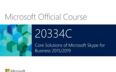 334 – Core Solutions of Microsoft Skype for Business 2015/2019